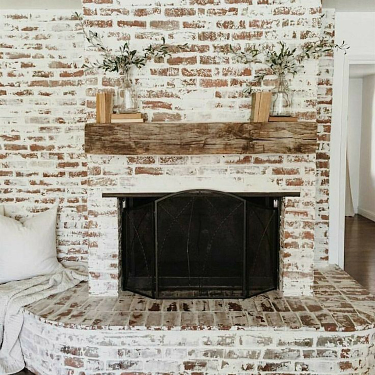 Midland Brick, How To Cover Up A Brick Fireplace With Stone