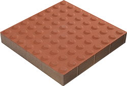 Tactile pavers TERACOTTA